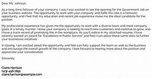 How To Write A Letter To A Recruiter Government Job Cover Letter Examples Samples Templates