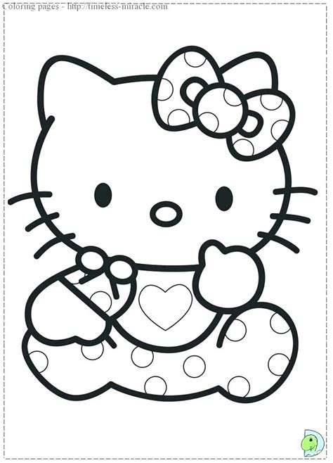 Baby Hello Kitty Coloring Pages at GetColorings com Free