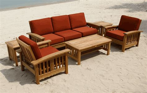 teak sofa set mission style sofa set by classic teak