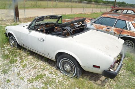 Fiat Spider Parts by 1976 Fiat Spider 124 For Parts Or Restoration Classic