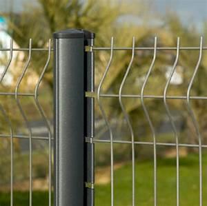 Panneaux Soudes Gris Anthracite : cl ture en panneaux de treillis soud s pour jardins en ~ Edinachiropracticcenter.com Idées de Décoration