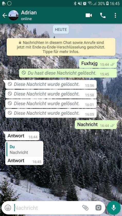 geloeschte whatsapp nachricht sichtbar machen  gehts