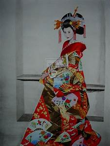 asian art | Japanese Geisha by ~DarthPenguin421 on ...