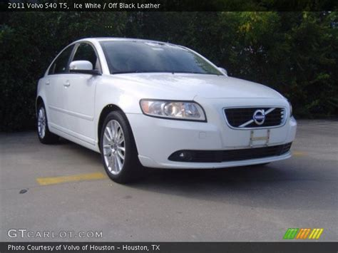 2011 Volvo S40 T5 by White 2011 Volvo S40 T5 Black Leather Interior