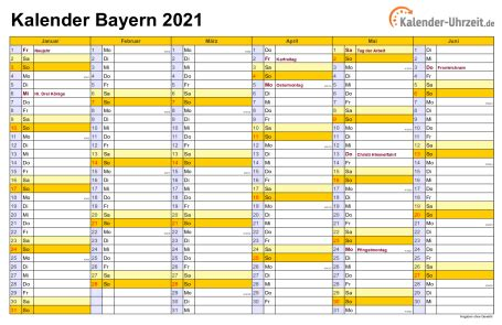 Für den zeitraum september bis oktober ist im kalender 2021 die wahl zum 20. Feiertage 2021 Bayern + Kalender