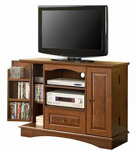 42 Inch Wood TV Stand With Media Storage In TV Stands