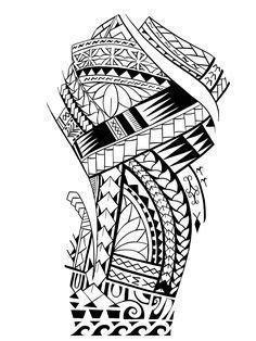 Miguel's Polynesian Half Sleeve Tattoo Design | tattoo ideas | Polynesian tattoo designs