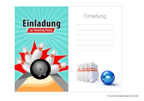 einladungskarten bowling zum kindergeburtstag kostenlos