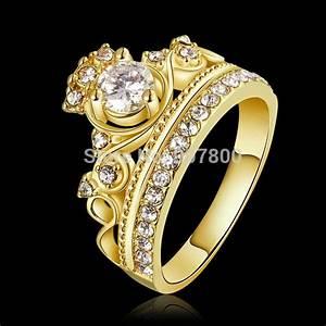 2017 New Design Gold color & rose gold color Crown Ring ...