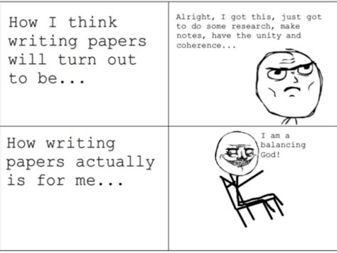 Memes About Writing Papers - central perks megustacomic meme comics writing papers me