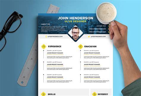 creative resume cv design template  ui ux