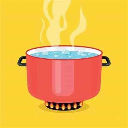 Pot Water Boiling Clipart Clip Vector Cooking