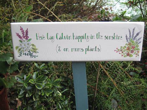 wooden garden plaques bespoke wooden garden signs by okey dokey notonthehighstreet com