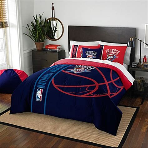 nba oklahoma city thunder embroidered comforter set bed