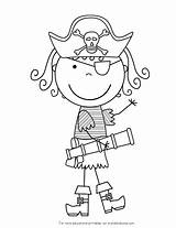 Coloring Pages Pirates Gingerbread Pirate sketch template