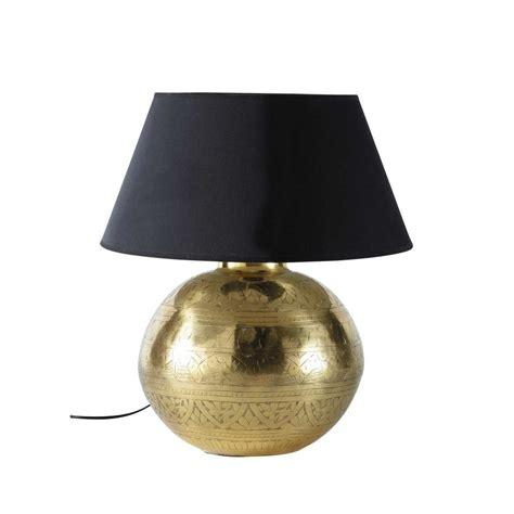 chambre garcon moderne le en métal effet doré et abat jour en tissu h 49 cm