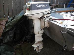 88 Johnson 28 Hp Spl Outboard Motor  E28eslcc With
