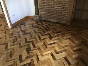reclaimed herringbone parquet flooring project With how to lay a parquet floor in a herringbone