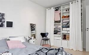 dressing pour petite chambre idees fonctionnelles modernes With rangement pour petite chambre