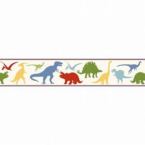 BYR94301B Red Dinosaur Toss Border - Dino Mighties - Boy's