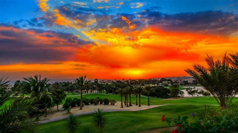 sunset katameya heights golf  tennis resort hd desktop