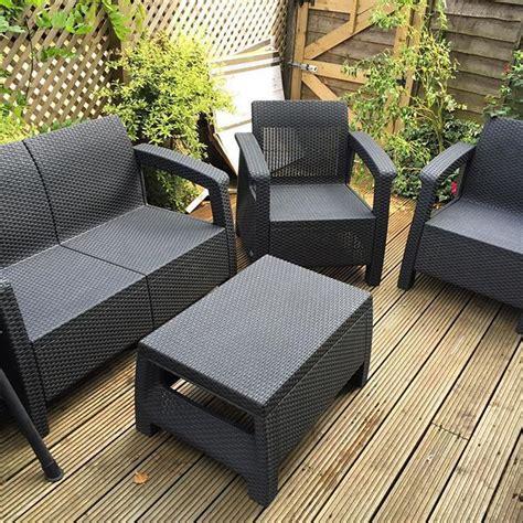 keter corfu rattan garden furniture set assembly