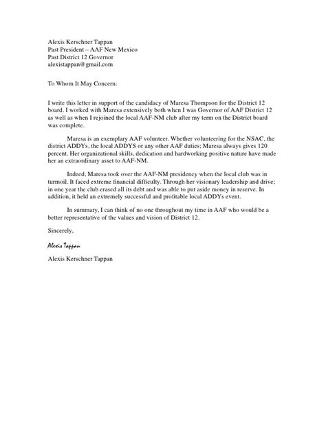 sle recommendation letter for social worker free