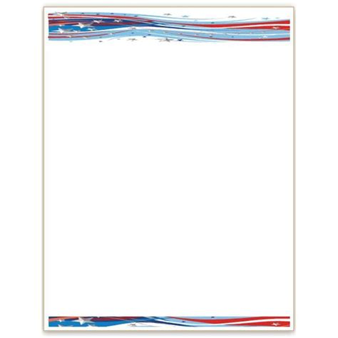 Headshot Border Template by 10 Patriotic Templates For Ms Word For July 4th