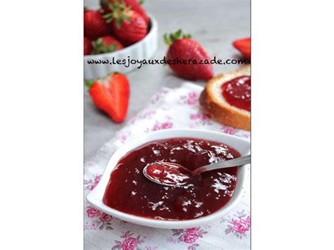 confiture de fraises les joyaux de sherazade