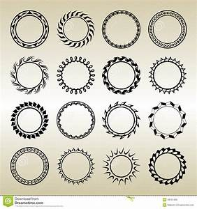Vector Outline Frames, Logo And Badge Templates. Stock ...