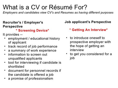 What Is A Cv And Resume by Cv Resume What Is A R 233 Sum 233 Cv