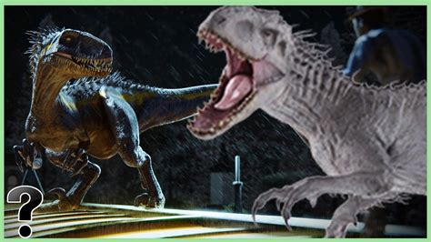 indoraptor fought  indominus rex youtube