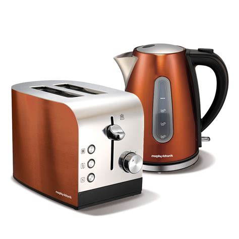 morphy richards toaster and kettle morphy richards copper accents kettle toaster set