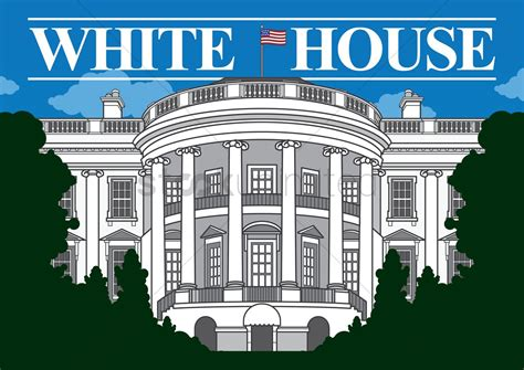 White house Vector Image - 1553070 | StockUnlimited