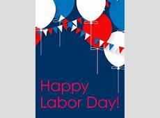 Joyful Balloon Happy Labor Day Card Birthday & Greeting