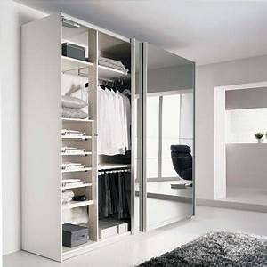 Porte Coulissante Placard Miroir : l gant porte armoire coulissante miroir de placard pas ~ Melissatoandfro.com Idées de Décoration
