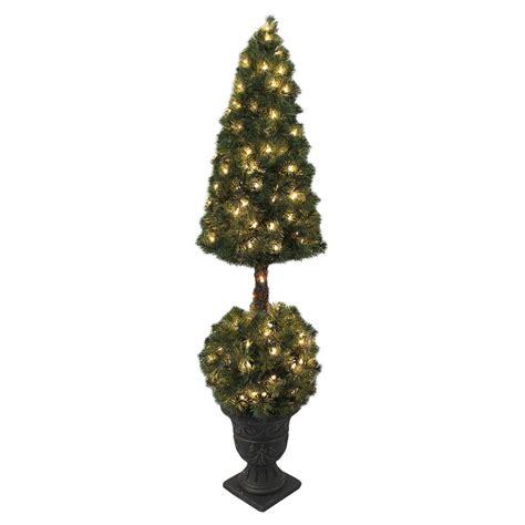 pre lit christmas topiary trees premium pre lit artificial topiary tree indoor outdoor