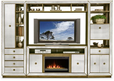 Reflection 4 Piece Entertainment Wall Unit With