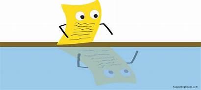 Reflection Clipart Paper Write Kawayan Student Semester