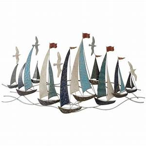 Décoration Murale En Métal Design : decoration murale m tal bateaux voiliers mouettes d coration murale originale ~ Teatrodelosmanantiales.com Idées de Décoration