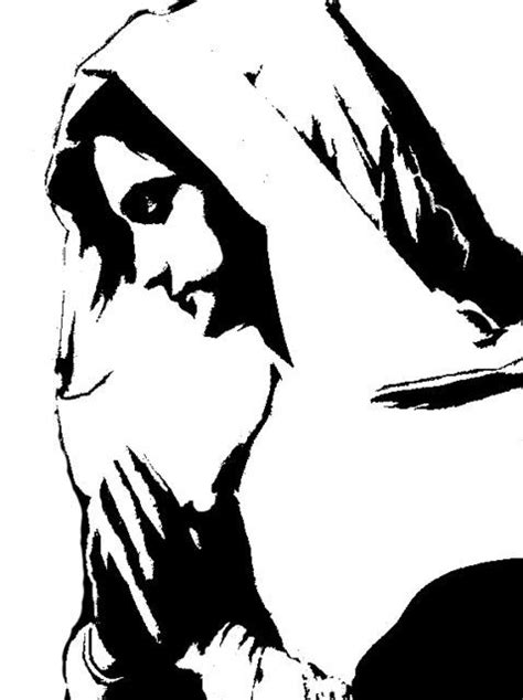 Mary prays stencil template | Stencil Templates | Stencil