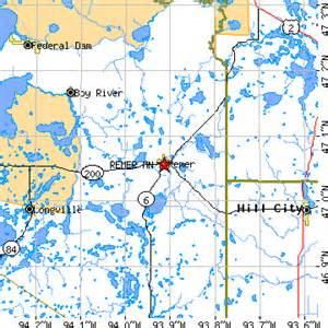 Remer MN Map