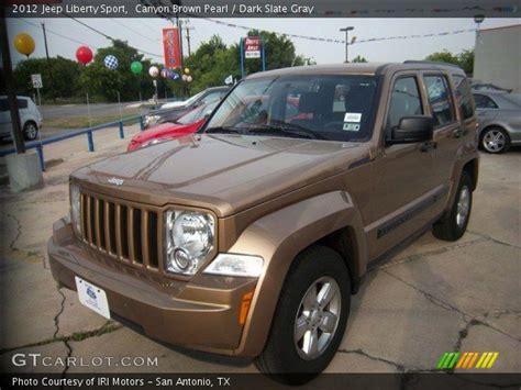 brown jeep liberty canyon brown pearl 2012 jeep liberty sport dark slate
