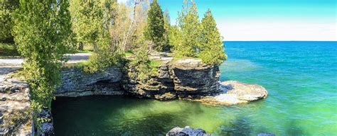 door county wis wisconsin explorer cave point door county park