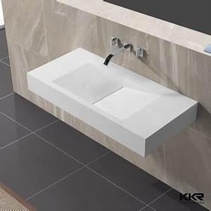 Lavabo Rectangulaire étroit : long et troit pierre mur accroch lavabo salle de bains ~ Edinachiropracticcenter.com Idées de Décoration