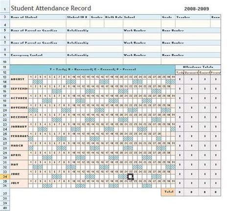 general attendance sheet templates  excel thogati