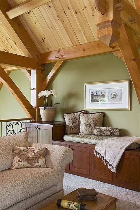 such a cozy spot for curling up to a good book inspiring timber frame interiors