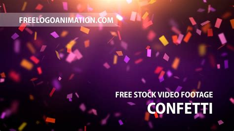 free video background footage confetti download youtube