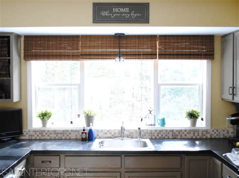 A Simple Kitchen Window Upgrade How To Make Curtains For Conservatory Roof Seagram Building Curtain Wall Detail Making Lined Valances Faux Silk White Panels Track Gliders Nz Disney Princess Fabric Shower Install Rod Without Drill Small Window 24 X 36