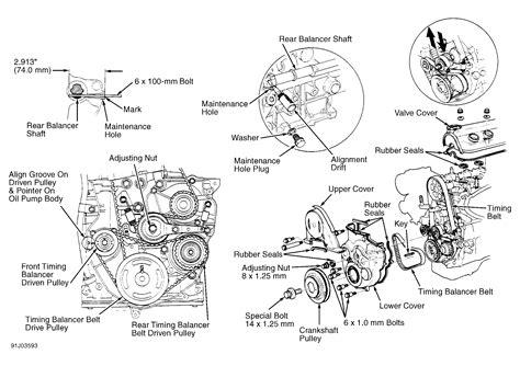 1997 Honda Accord Diagram by 1997 Honda Accord Serpentine Belt Routing And Timing Belt